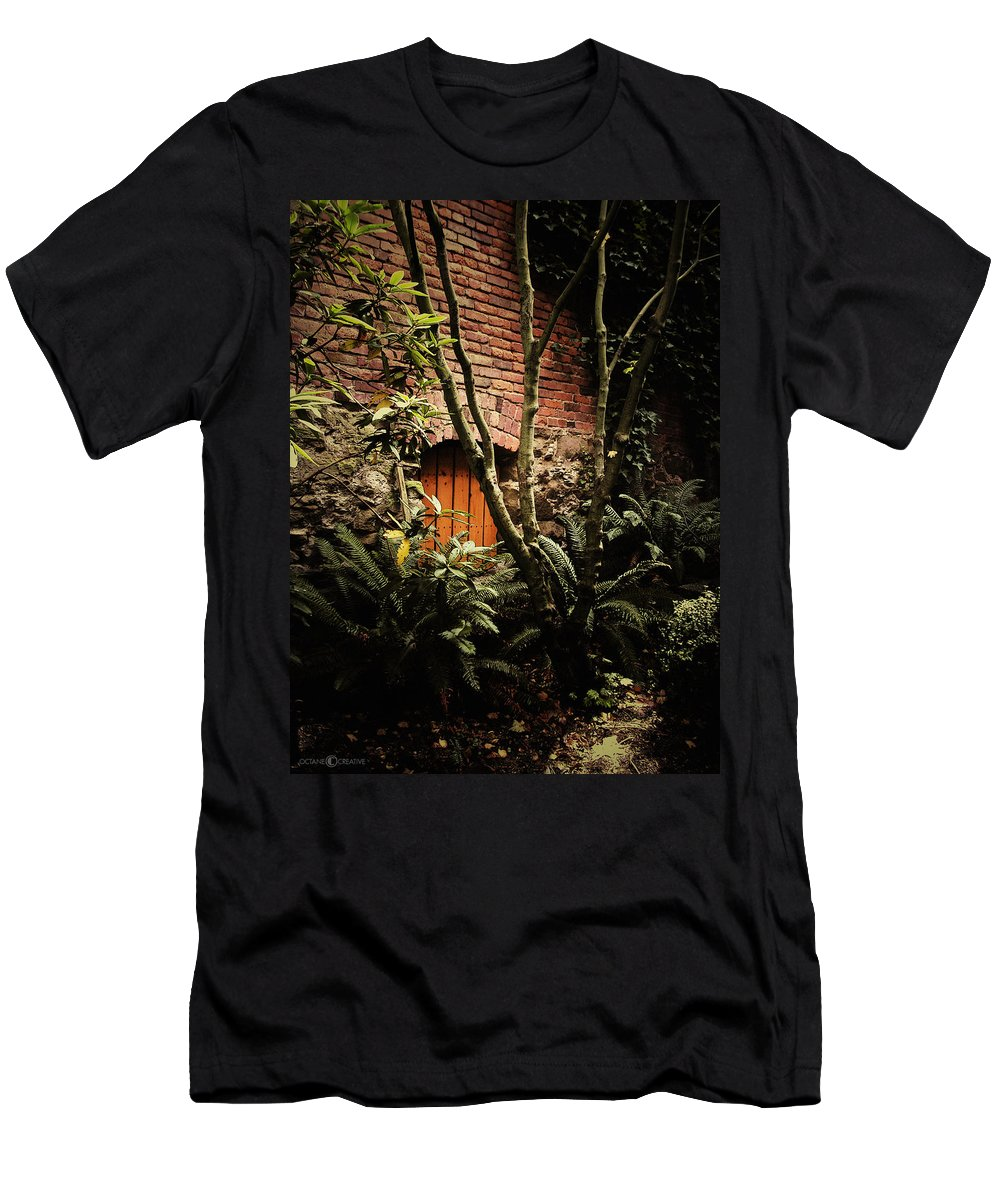 Brick Men's T-Shirt (Athletic Fit) featuring the photograph Hidden Passage by Tim Nyberg