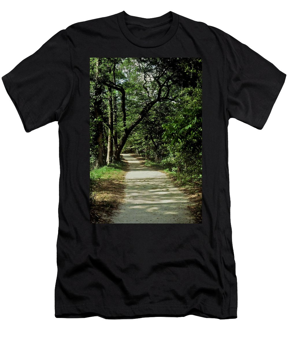 Path Men's T-Shirt (Athletic Fit) featuring the photograph Hidden Path by Gary Wonning