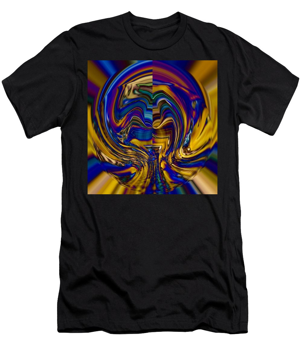 Abstract Men's T-Shirt (Athletic Fit) featuring the photograph Hidden Recesses Of The Mind by Elizabeth Tillar