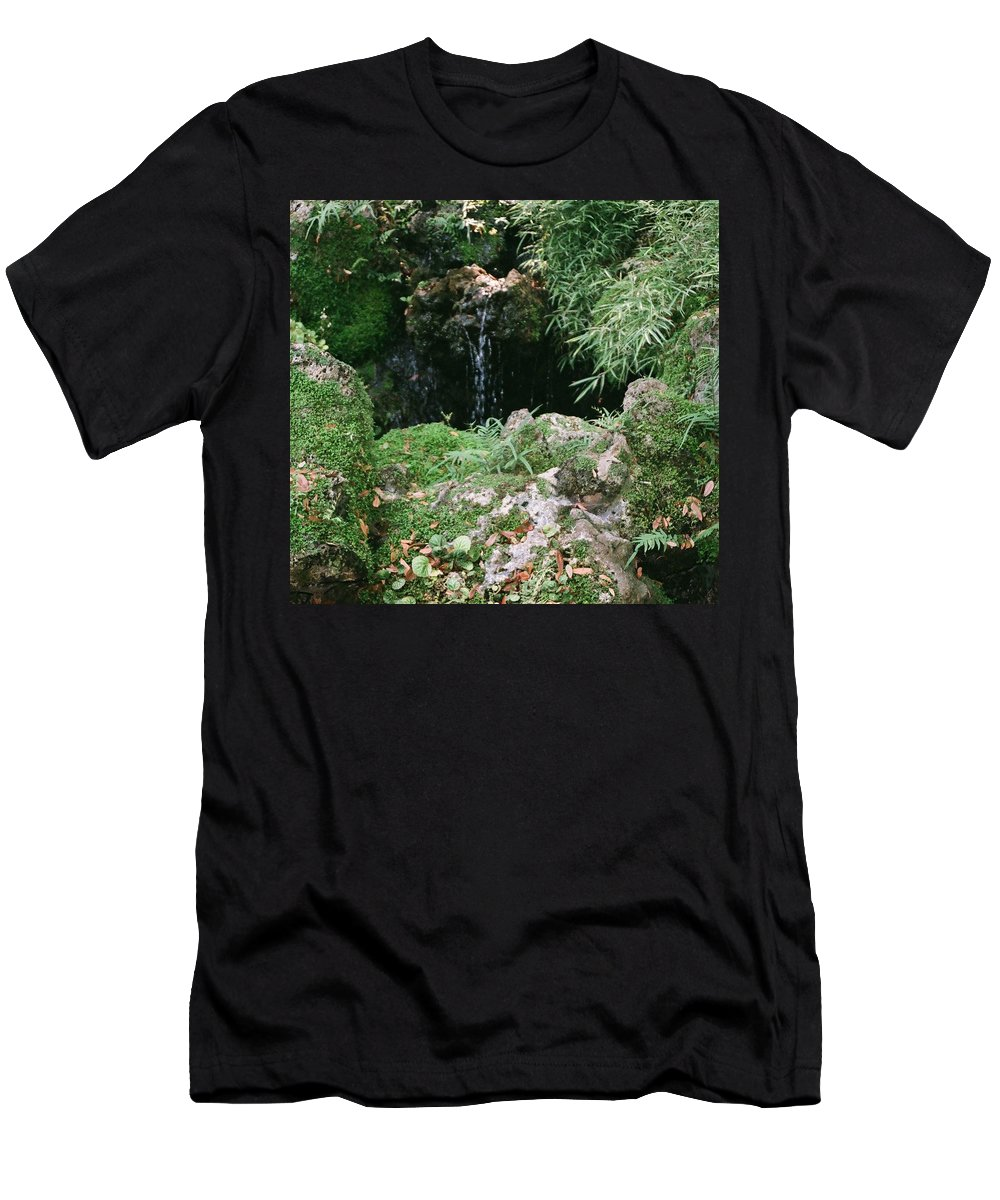 Nature Men's T-Shirt (Athletic Fit) featuring the photograph Hidden Waterfall by Dean Triolo