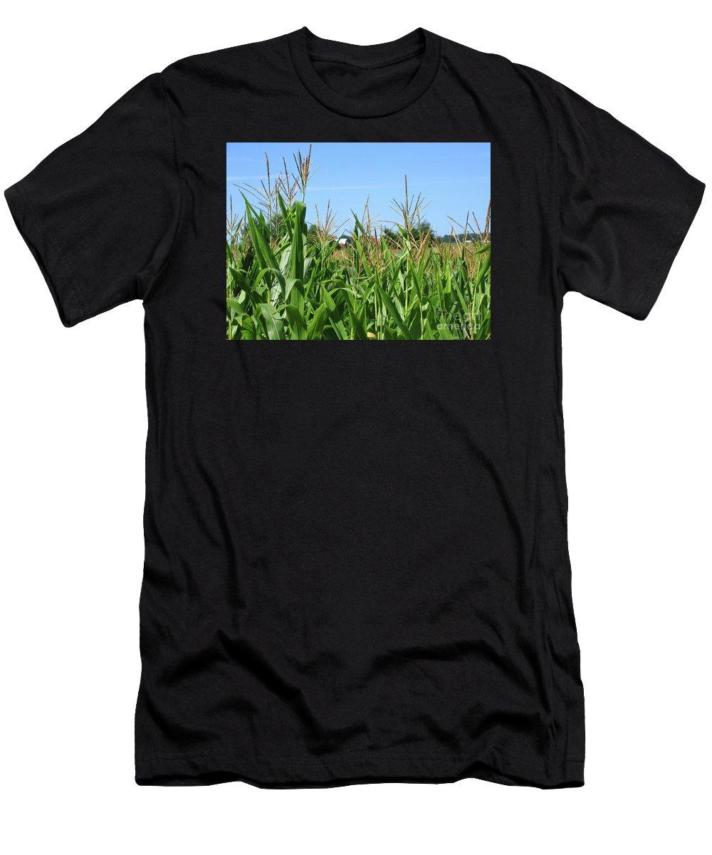 Corn Men's T-Shirt (Athletic Fit) featuring the photograph High As An Elephants Eye by Ann Horn