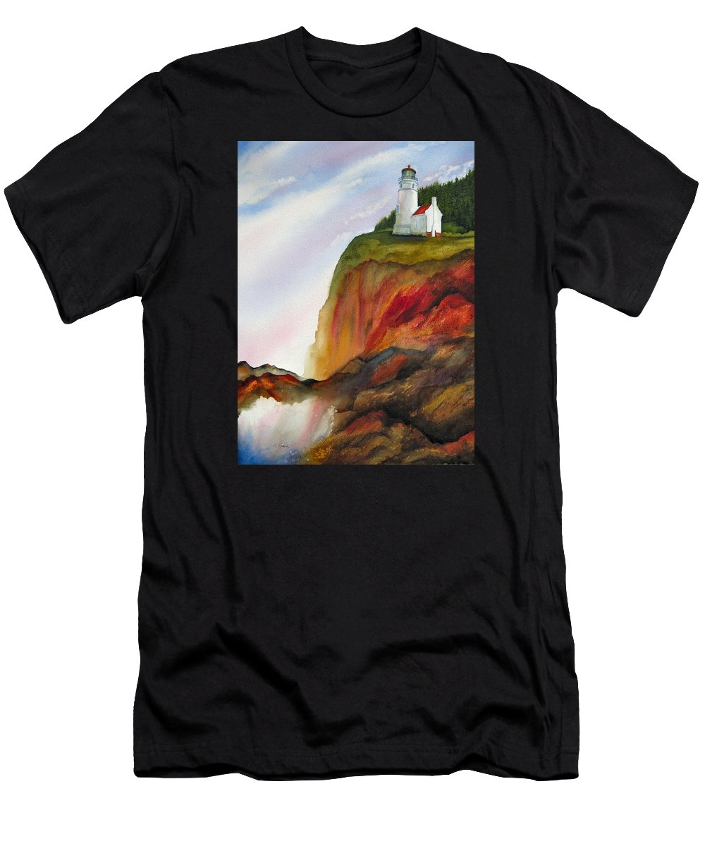 Coastal Men's T-Shirt (Athletic Fit) featuring the painting High Ground by Karen Stark