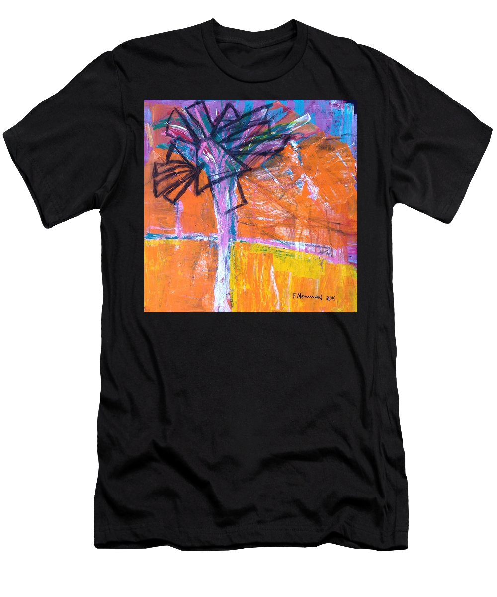 Palm Springs Palm Tree Desert Men's T-Shirt (Athletic Fit) featuring the painting High Noon by Felice Newman