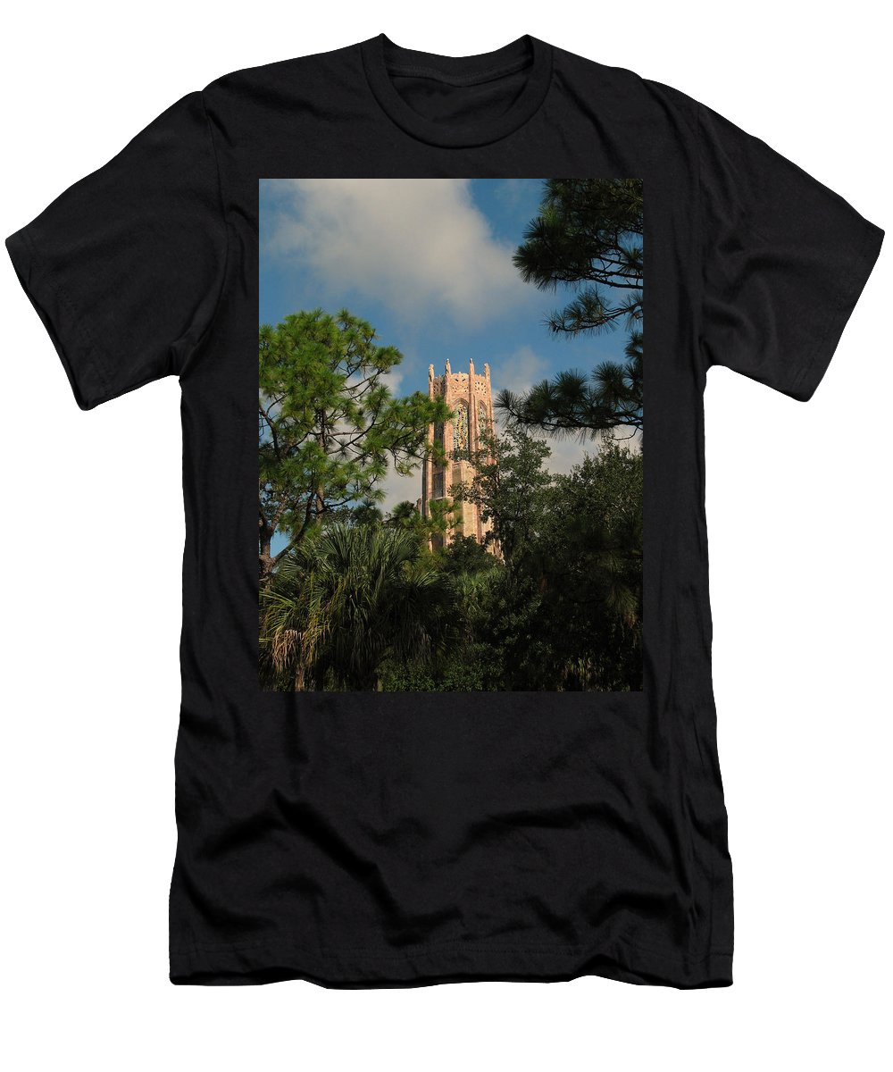 Landscape Men's T-Shirt (Athletic Fit) featuring the photograph High Tower by Peg Urban