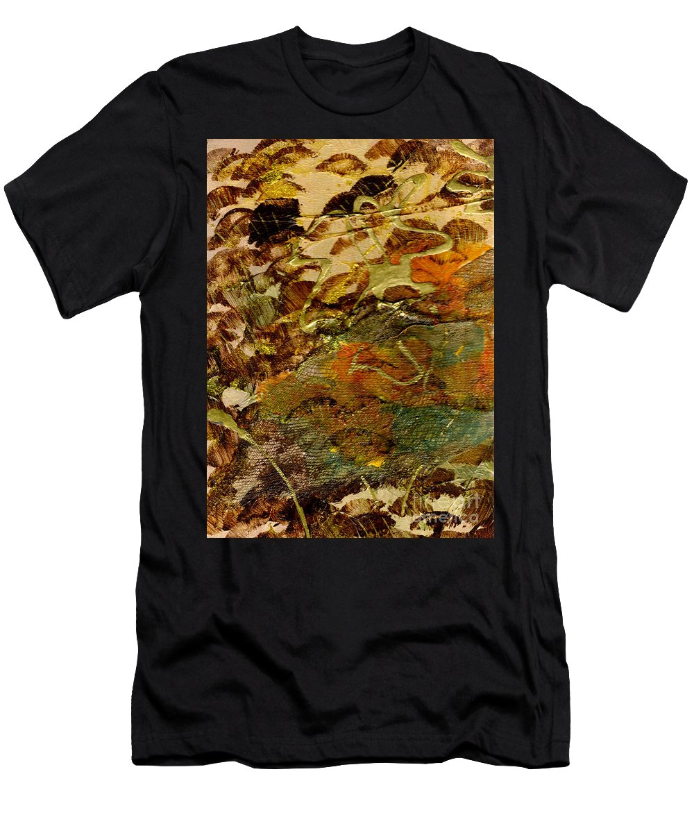 Hiking Men's T-Shirt (Athletic Fit) featuring the mixed media Hiking II by Angela L Walker