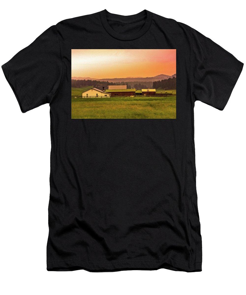 South Dakota Men's T-Shirt (Athletic Fit) featuring the photograph Hill City Scenic View, South Dakota by Art Spectrum