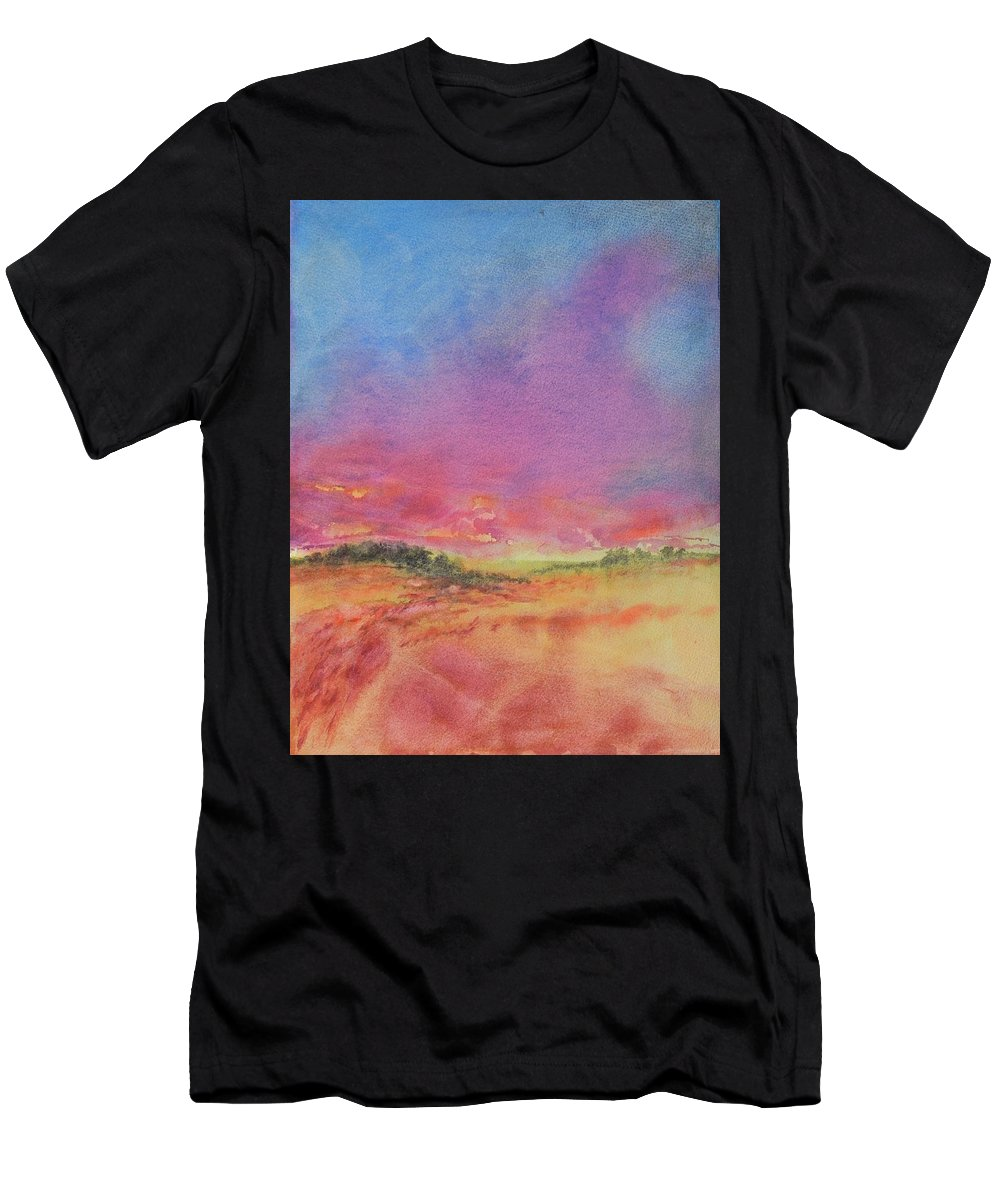 Texas T-Shirt featuring the painting Hill Country Abstract No 8 by Virgil Carter
