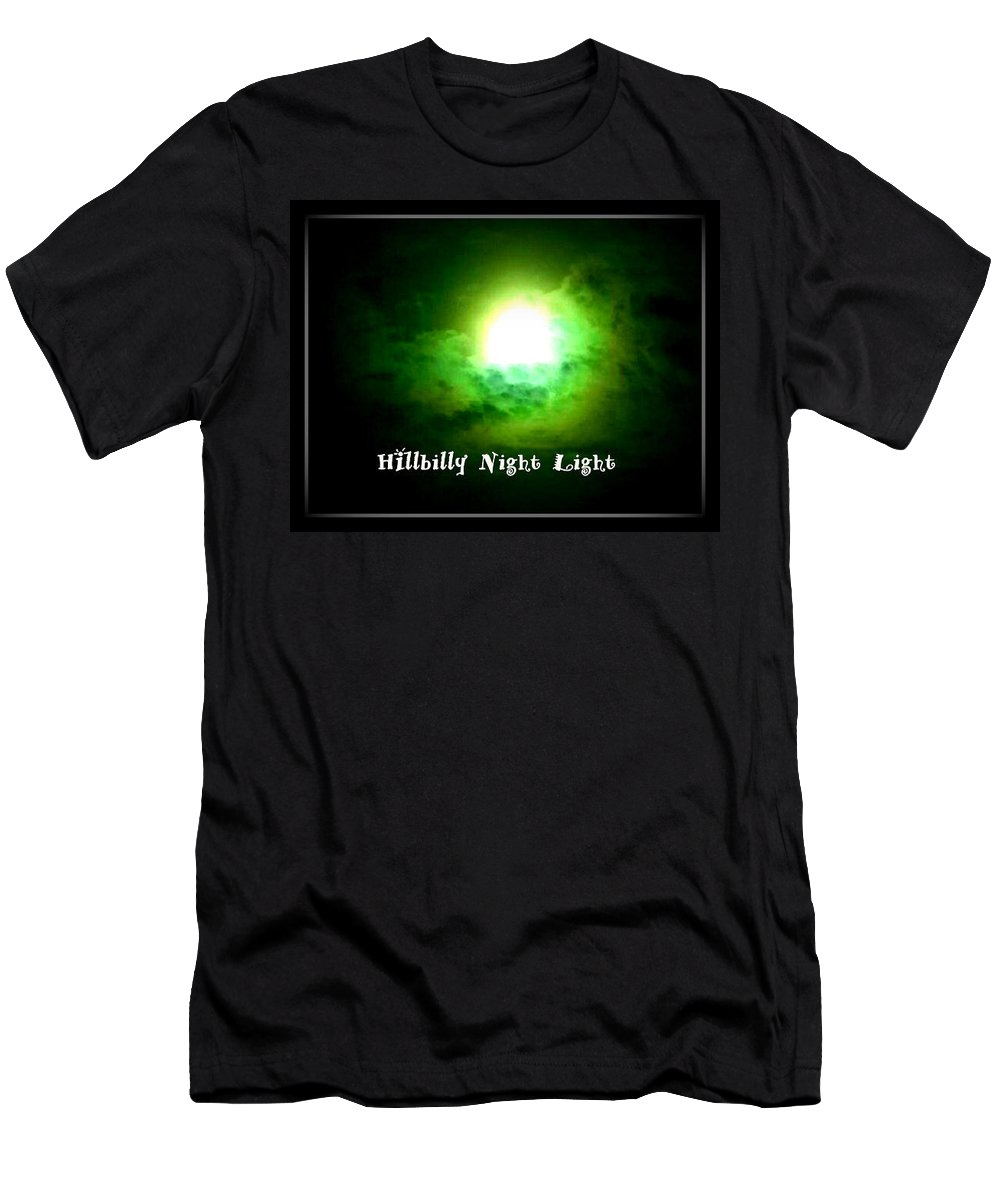 Full Moon Men's T-Shirt (Athletic Fit) featuring the photograph Hillbilly Night Light by Lesli Sherwin