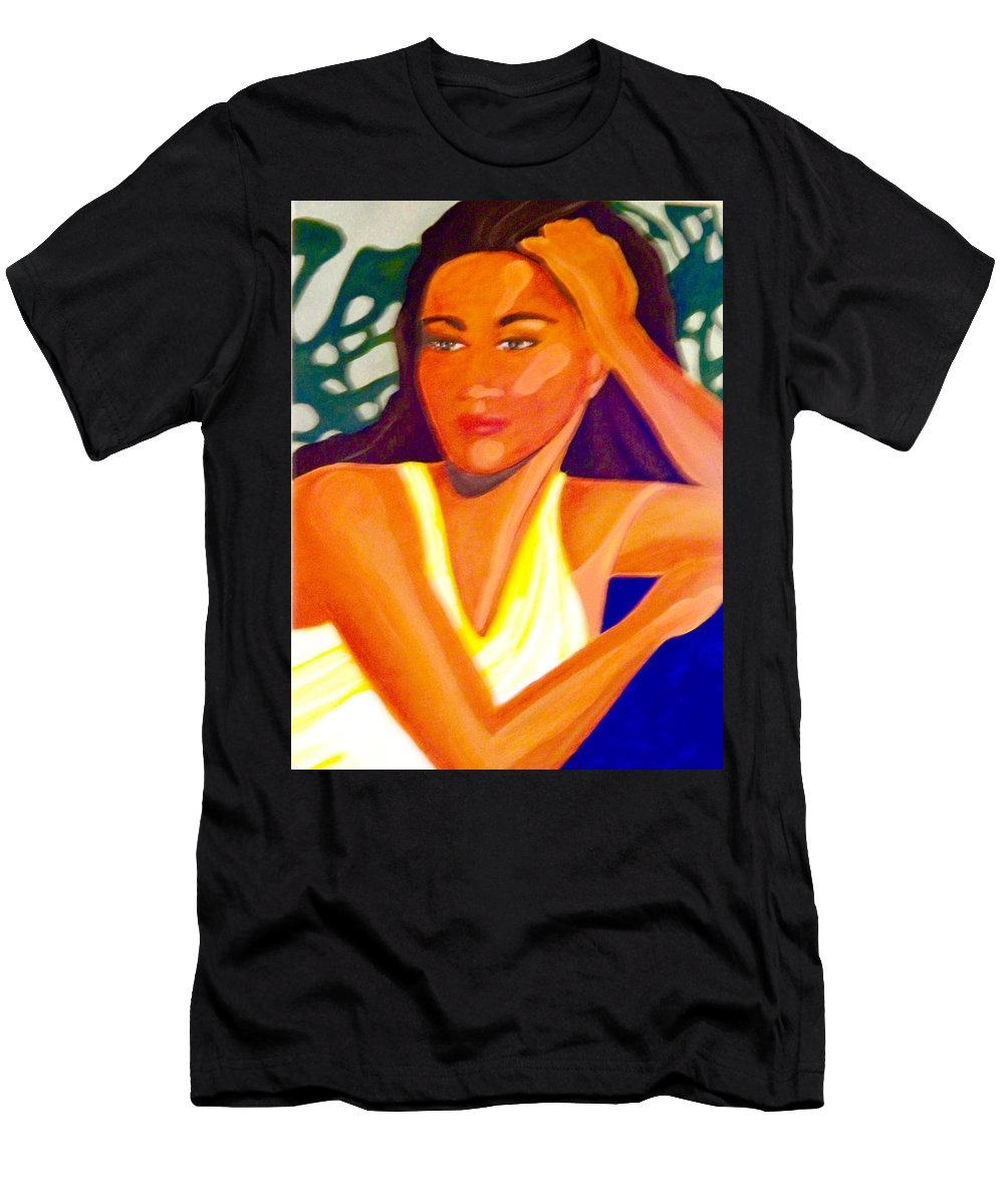 Woman Men's T-Shirt (Athletic Fit) featuring the painting Hinanopolani by Jamie Laniakea Clark