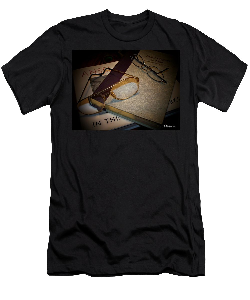 Eyeglasses Men's T-Shirt (Athletic Fit) featuring the photograph His And Hers - A Still Life by Betty Northcutt