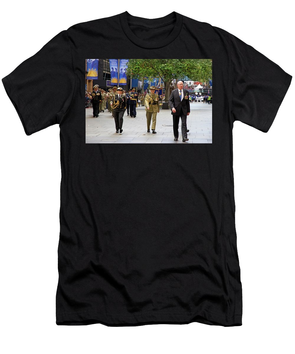 His Excellency Men's T-Shirt (Athletic Fit) featuring the photograph His Excellency General The Honourable David Hurley by Miroslava Jurcik