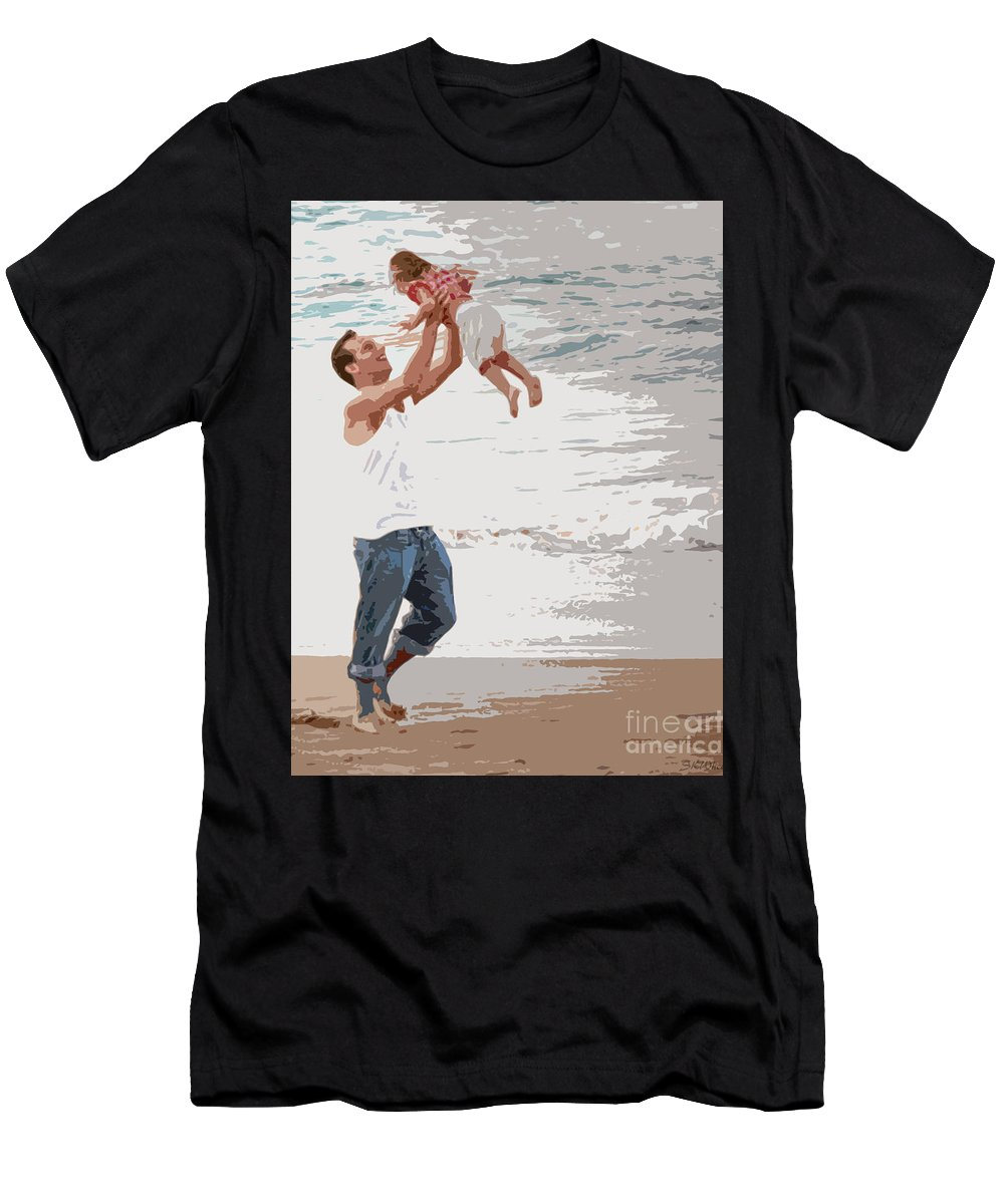 Daddy Men's T-Shirt (Athletic Fit) featuring the photograph His Joy by Sabrina K Wheeler