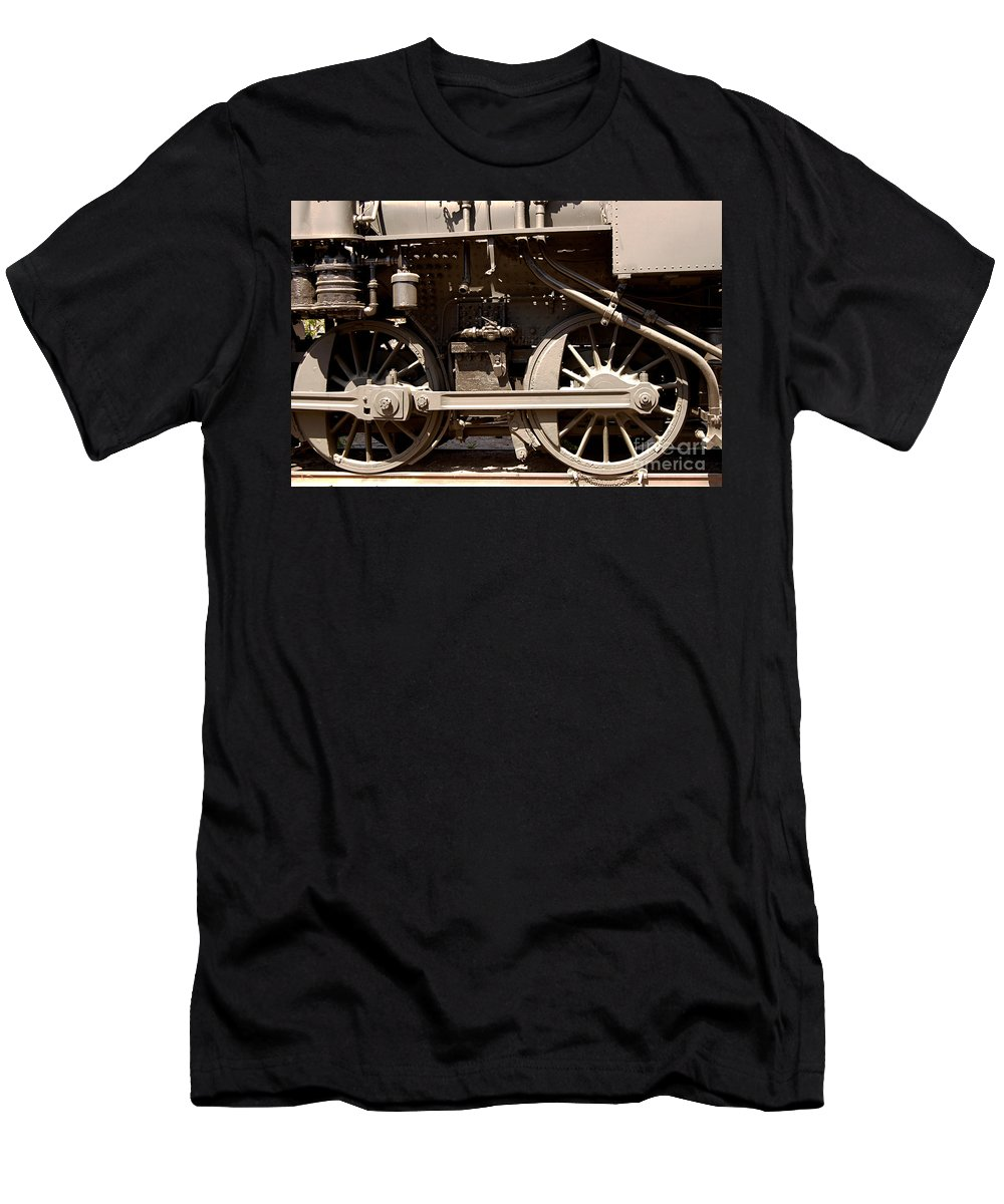 Clay T-Shirt featuring the photograph Historic Trains by Clayton Bruster