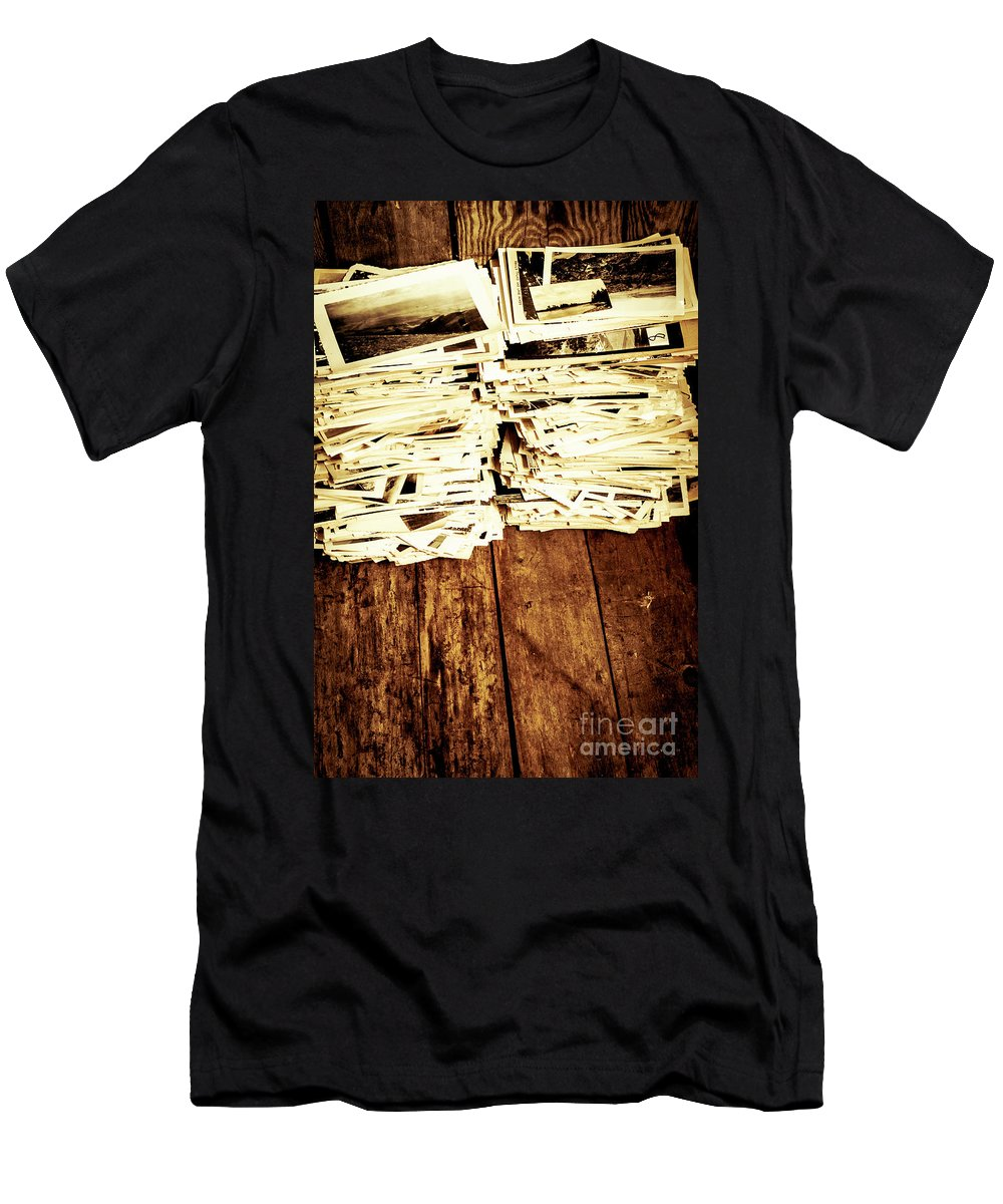 Photographs Men's T-Shirt (Athletic Fit) featuring the photograph History In Photos by Jorgo Photography - Wall Art Gallery