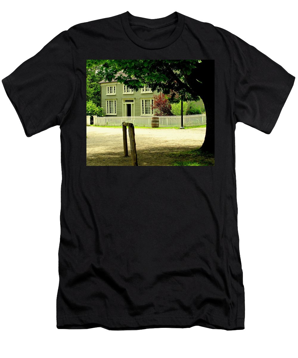 Hitching Post Men's T-Shirt (Athletic Fit) featuring the photograph Hitching Post by Ian MacDonald