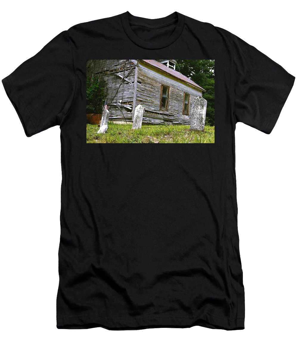 Church Men's T-Shirt (Athletic Fit) featuring the photograph Hocking Hills Church by Nelson Strong