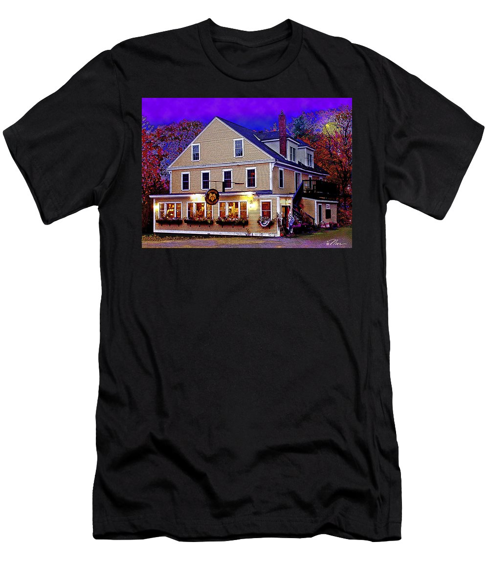 Men's T-Shirt (Athletic Fit) featuring the photograph Holderness General Store by Nancy Griswold