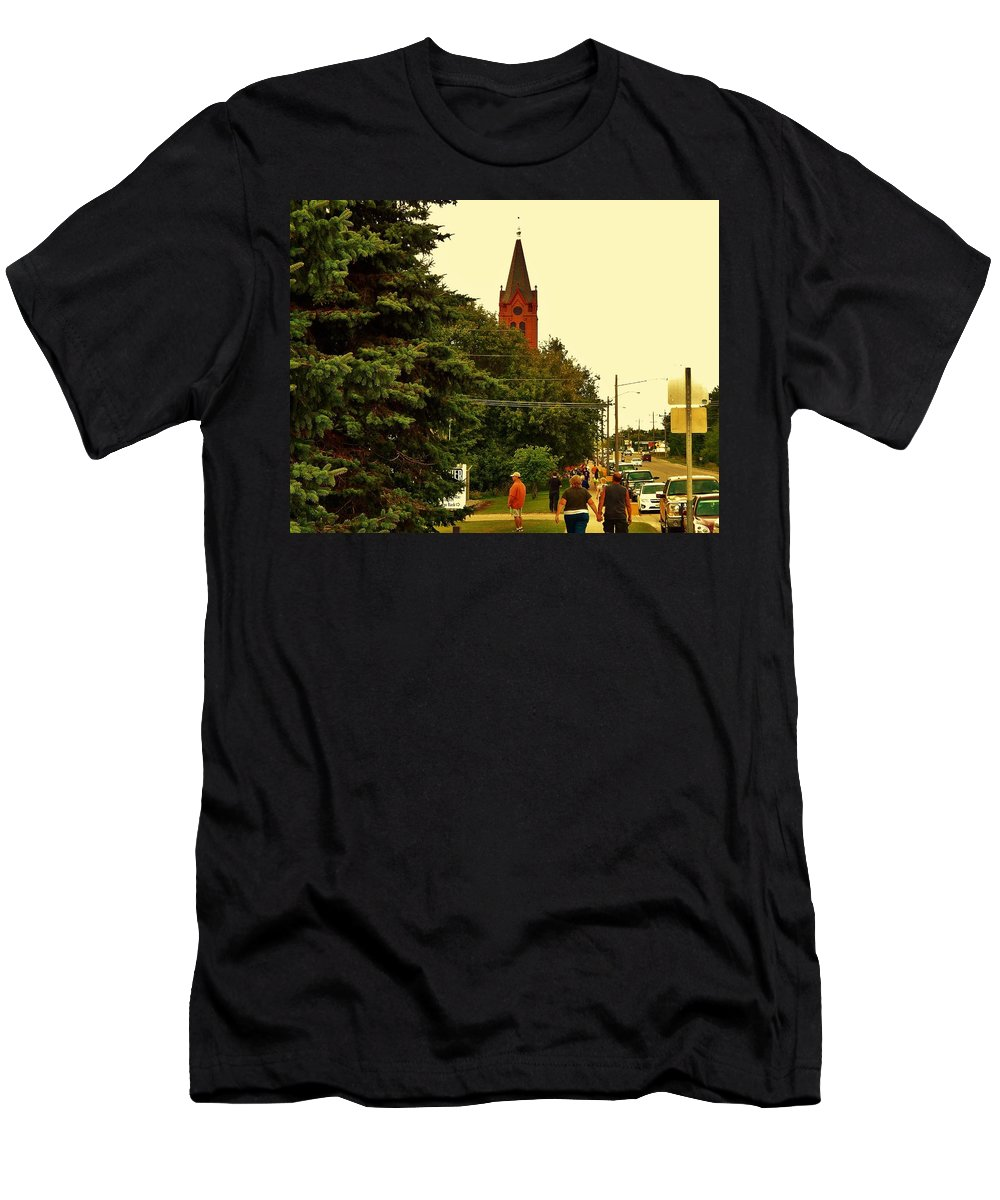 Couple Men's T-Shirt (Athletic Fit) featuring the photograph Holding Hands by Curtis Tilleraas