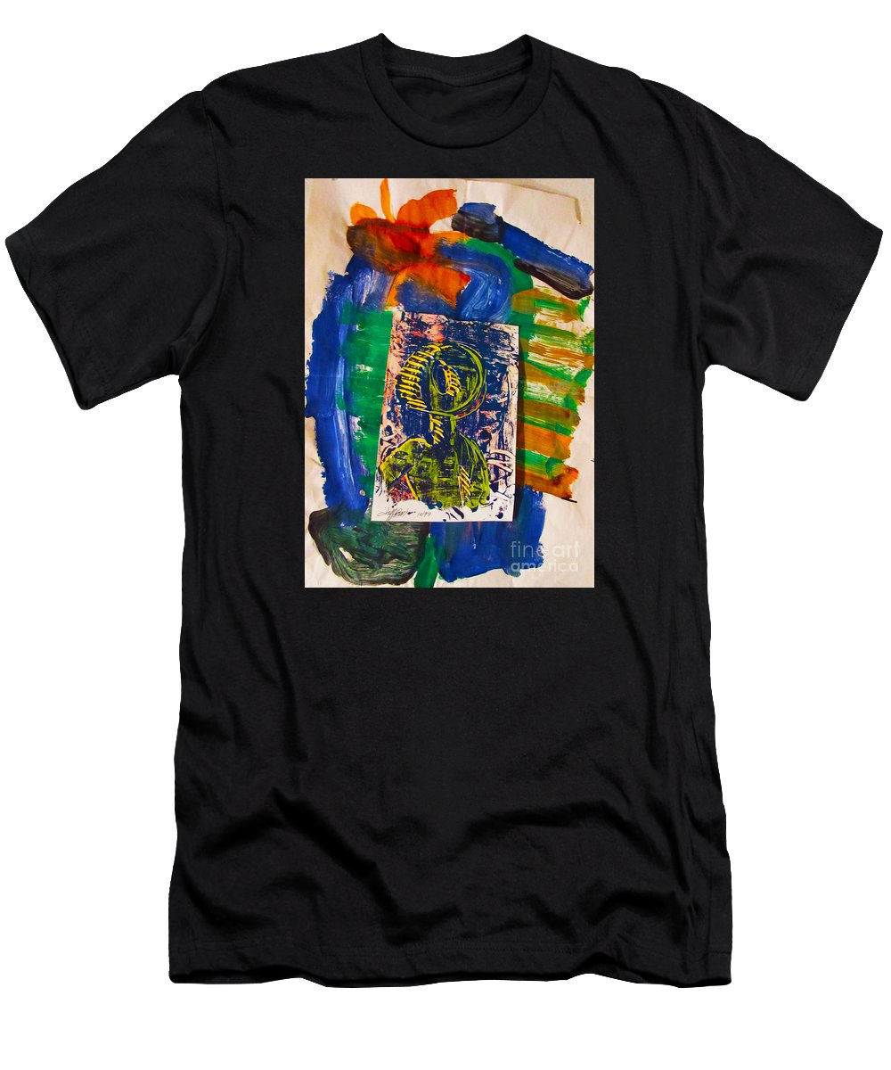 Abstract Men's T-Shirt (Athletic Fit) featuring the painting Hollow Man by Jeff Birr