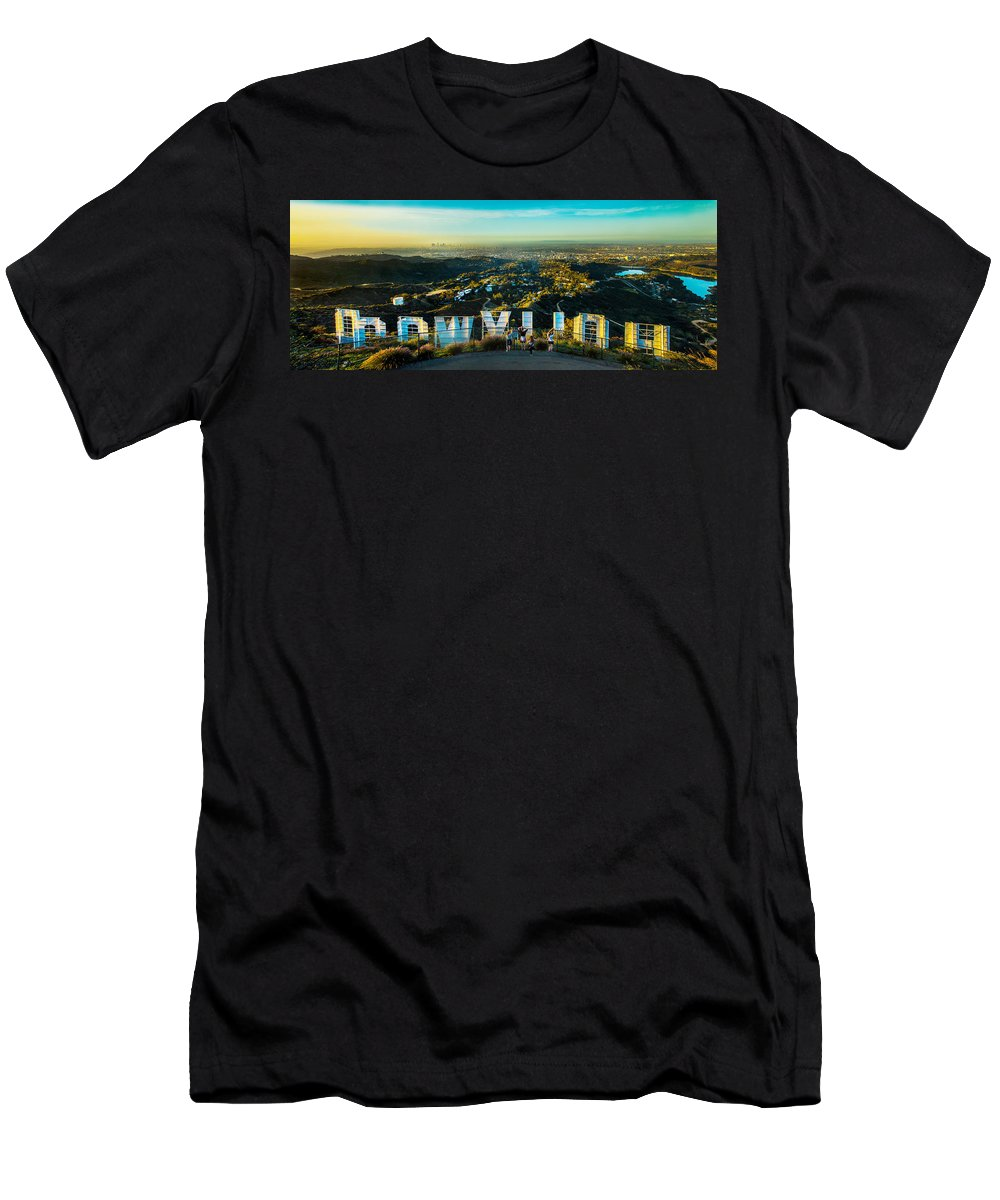 Los Angeles Men's T-Shirt (Athletic Fit) featuring the photograph Hollywood Dreaming by Az Jackson