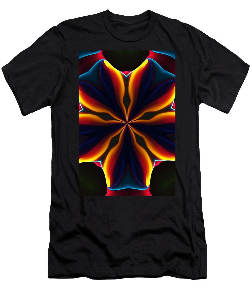 Abstract T-Shirt featuring the digital art Homage to Georgia O'Keeffe by David Lane