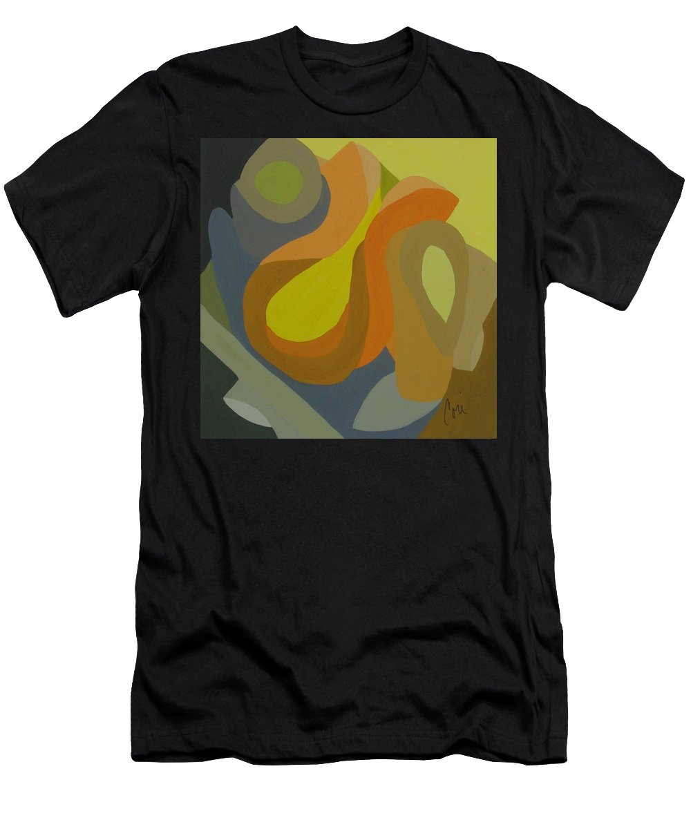 Abstract Men's T-Shirt (Athletic Fit) featuring the painting Homage To The 70's by Cori Solomon