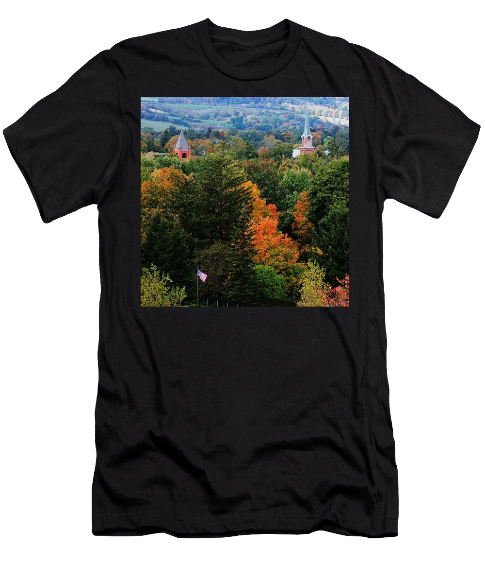 Landscape Men's T-Shirt (Athletic Fit) featuring the photograph Homer Ny by David Lane