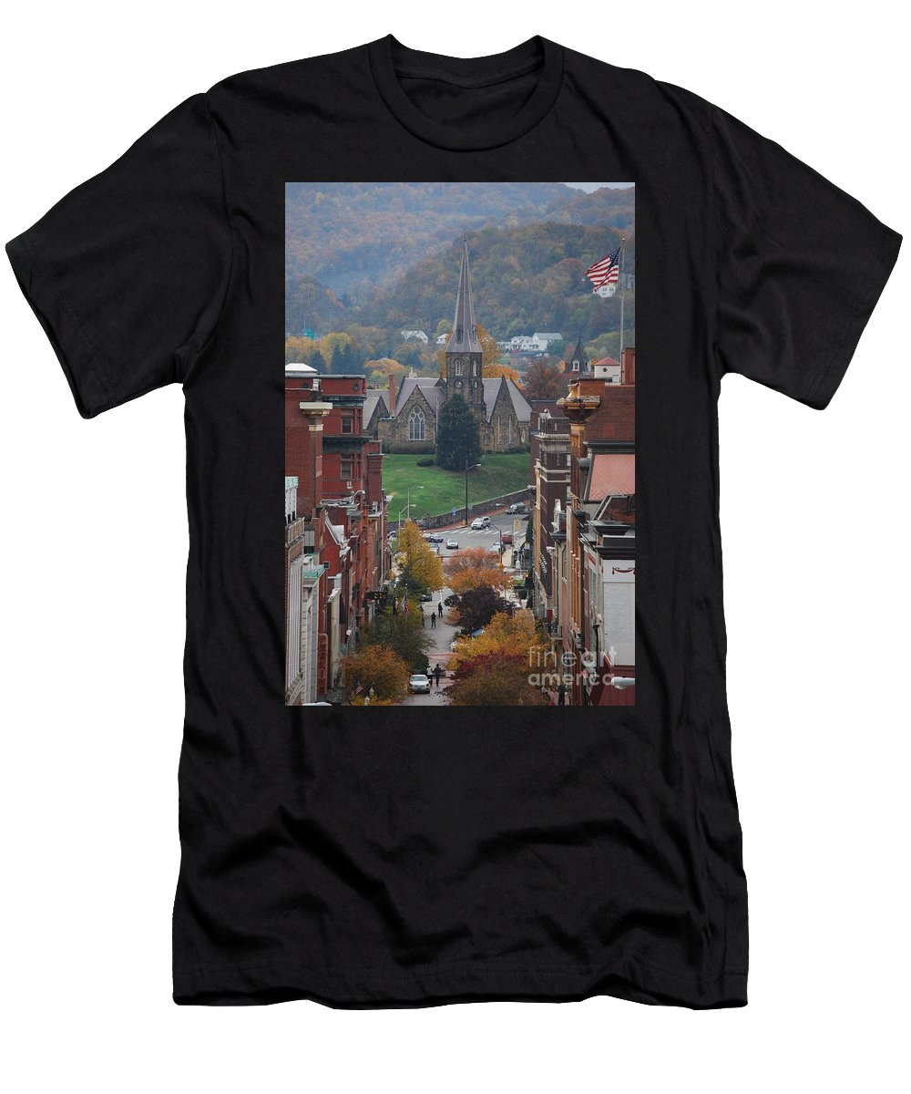 Cumberland Men's T-Shirt (Athletic Fit) featuring the photograph My Hometown Cumberland, Maryland by Eric Liller