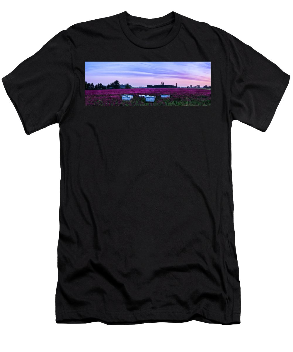 Landscape Men's T-Shirt (Athletic Fit) featuring the photograph Honey In The Making by Steven Clark