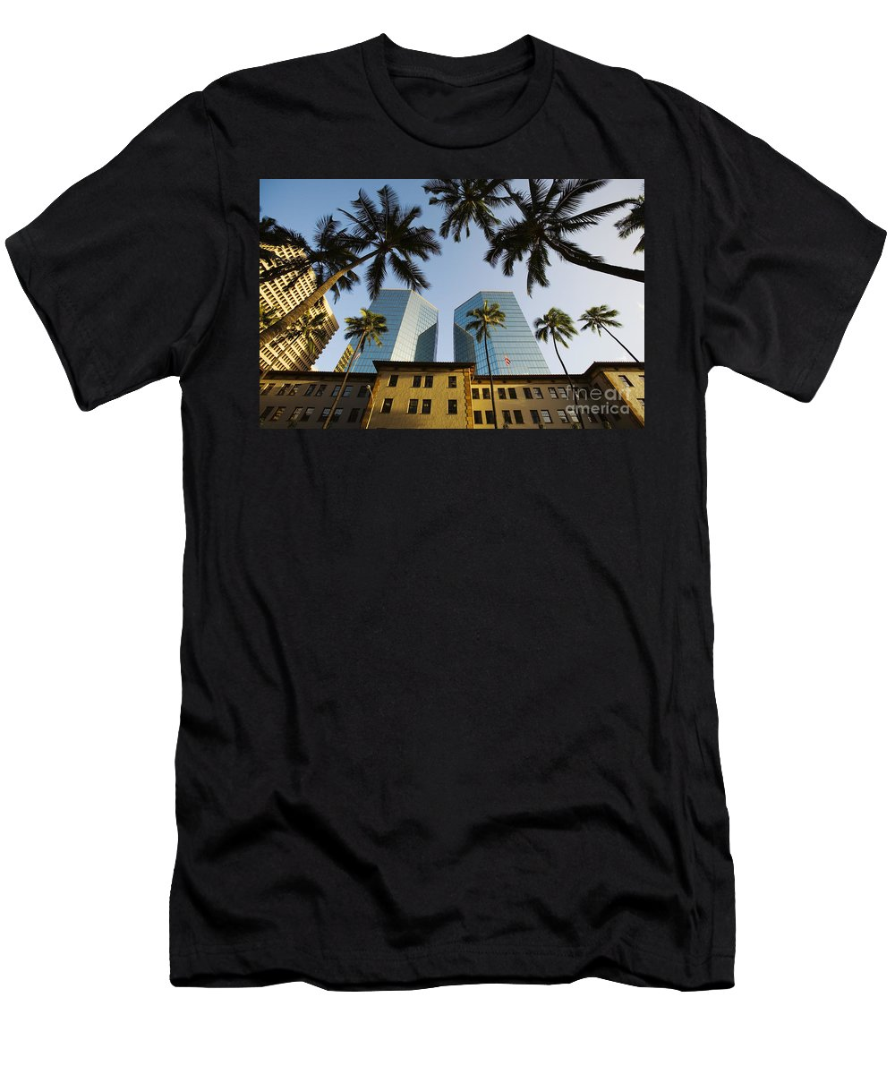 Afternoon Men's T-Shirt (Athletic Fit) featuring the photograph Honolulu by Dana Edmunds - Printscapes