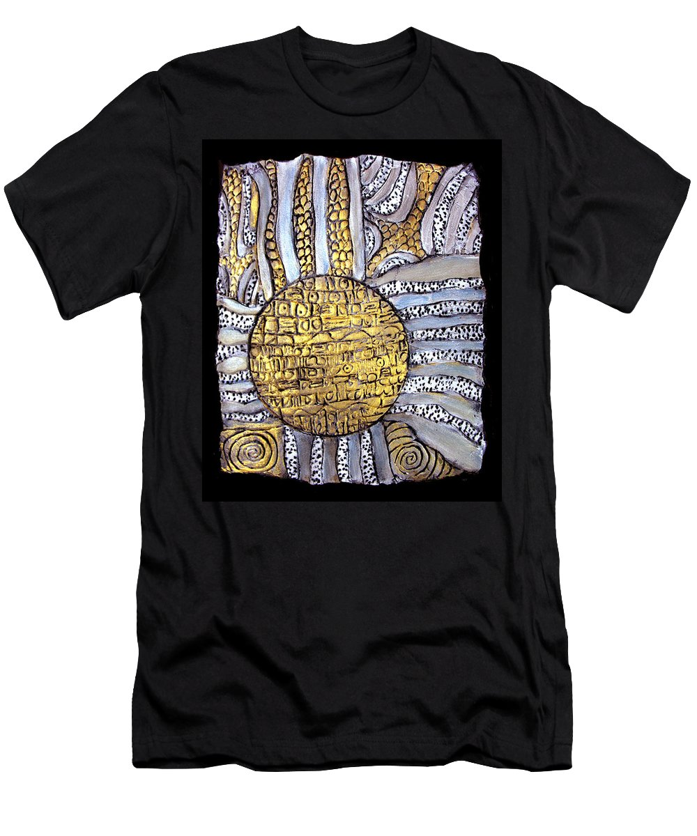 Metal Men's T-Shirt (Athletic Fit) featuring the painting Honor To The Sun by Wayne Potrafka
