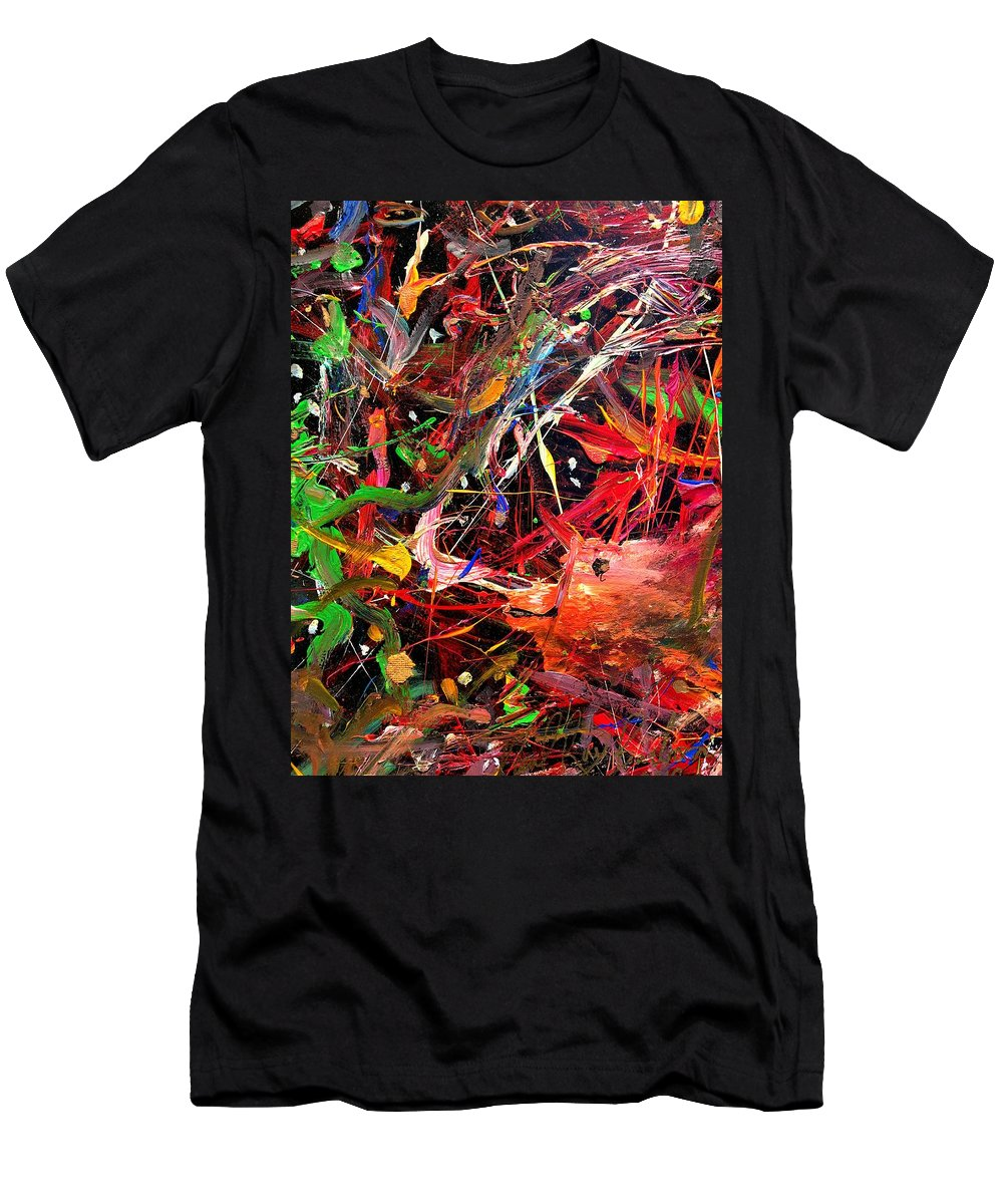 Fishing Men's T-Shirt (Athletic Fit) featuring the painting Hook Line And Sinker by Neal Barbosa