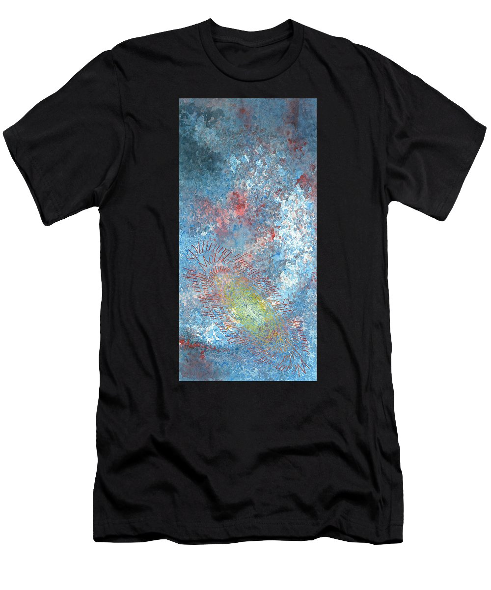 Calligraphy Men's T-Shirt (Athletic Fit) featuring the painting Hoop Dance by Sid Freeman