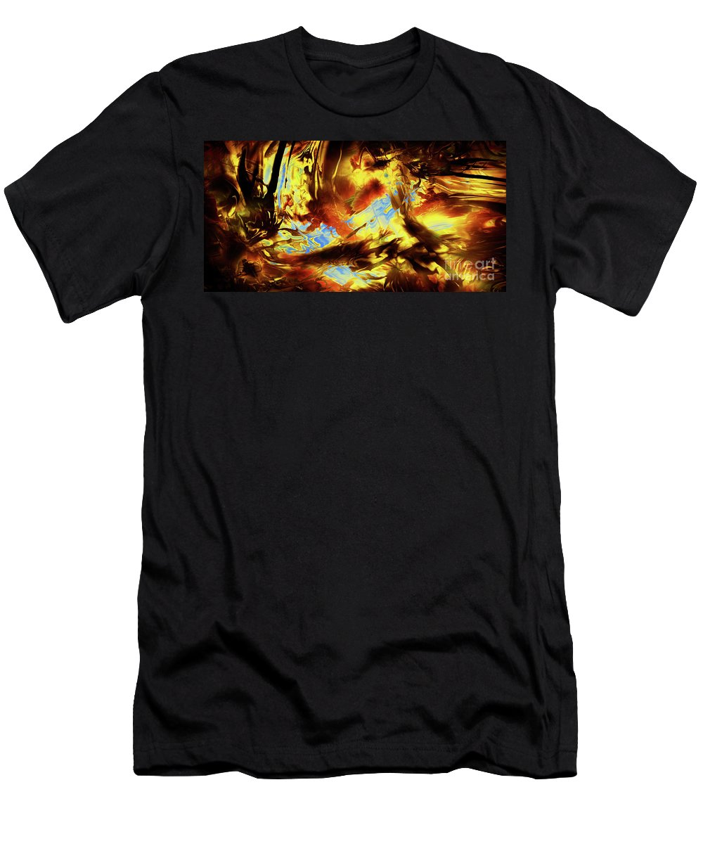 Abstract Men's T-Shirt (Athletic Fit) featuring the digital art Hope Above Broken Skies by Kyle Wood