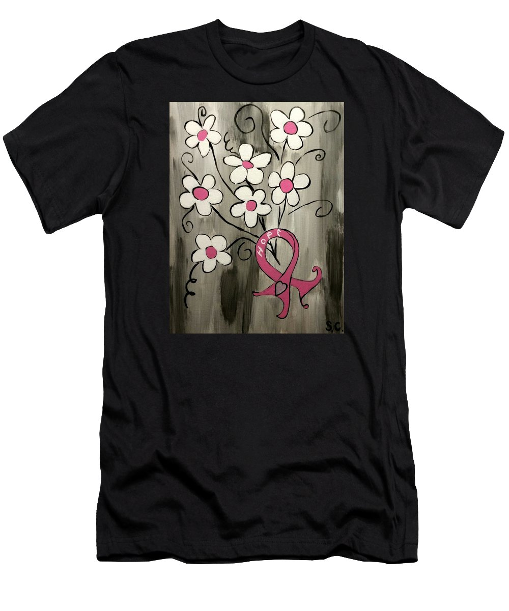 Hope Men's T-Shirt (Athletic Fit) featuring the painting Hope by Stephanie Carriere
