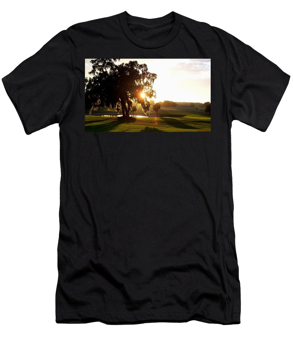Sunset Men's T-Shirt (Athletic Fit) featuring the photograph Horse Country Sunset by Kristen Wesch