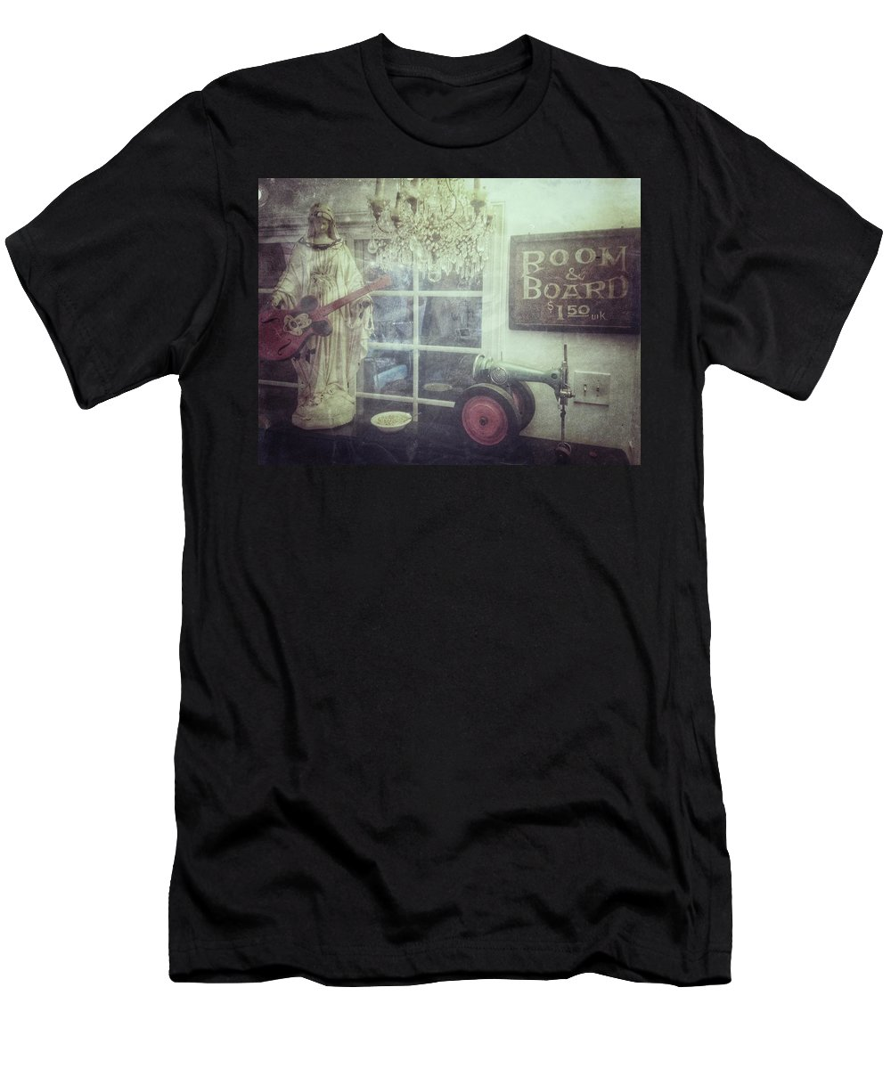 Madonna Men's T-Shirt (Athletic Fit) featuring the photograph Hospice Madonna by Jen Wray