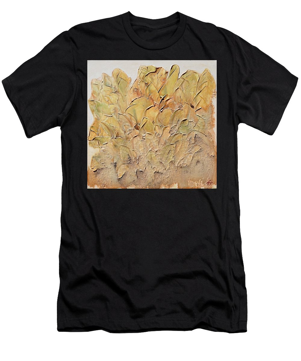 Hostas Men's T-Shirt (Athletic Fit) featuring the painting Hostas by Theresa Marie Johnson