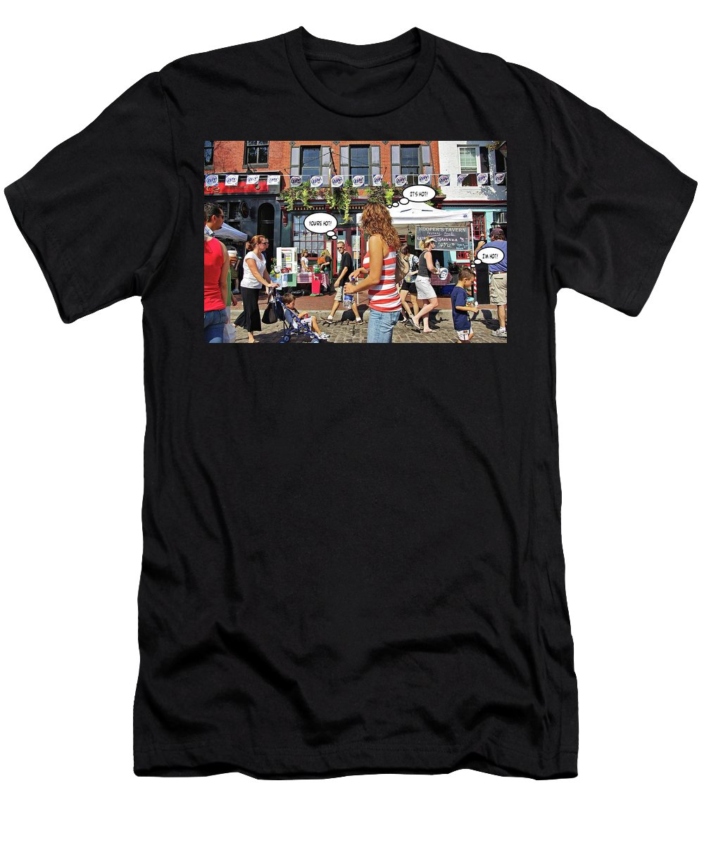 2d Men's T-Shirt (Athletic Fit) featuring the photograph Hot by Brian Wallace