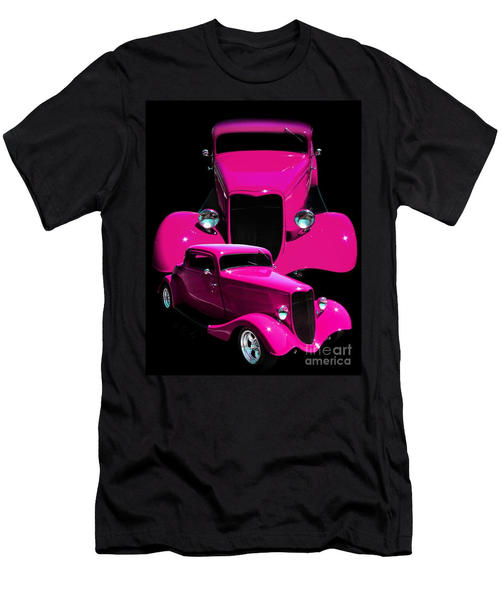 Hot Pink 33 Men's T-Shirt (Athletic Fit) featuring the photograph Hot Pink 33 by Peter Piatt