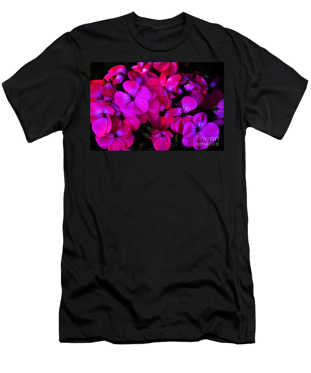 Clay Men's T-Shirt (Athletic Fit) featuring the photograph Hot Pink Florals by Clayton Bruster