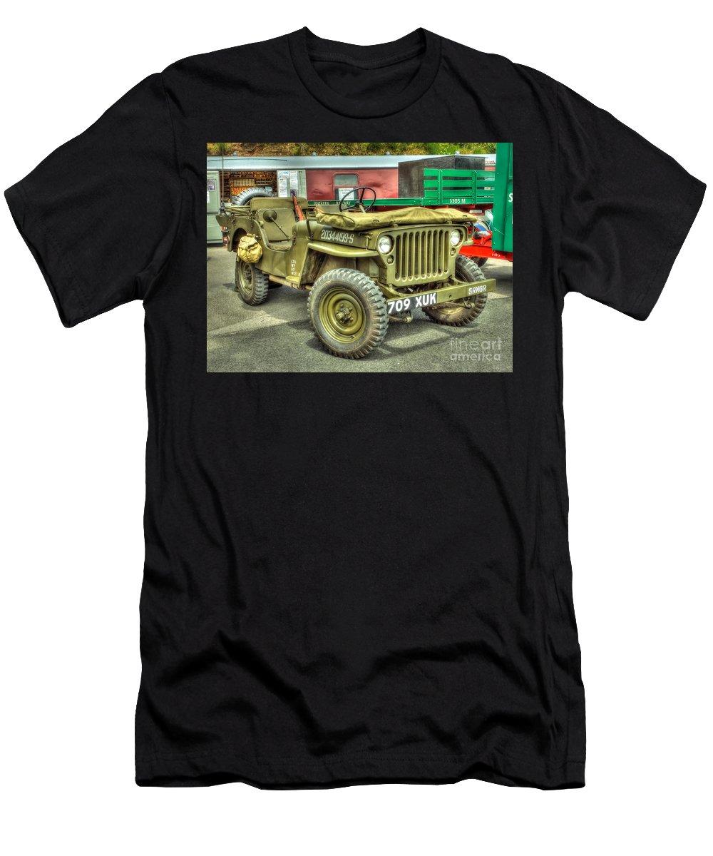 Hotchkiss Men's T-Shirt (Athletic Fit) featuring the photograph Hotchkiss Jeep by Catchavista
