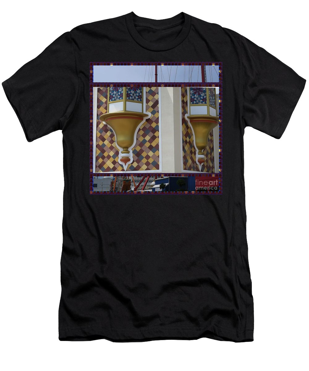 Announcement Men's T-Shirt (Athletic Fit) featuring the photograph Hotel Taj Palace Atalantic City Wall Decorations Photography By Navinjoshi At Fineartamerica.com  by Navin Joshi
