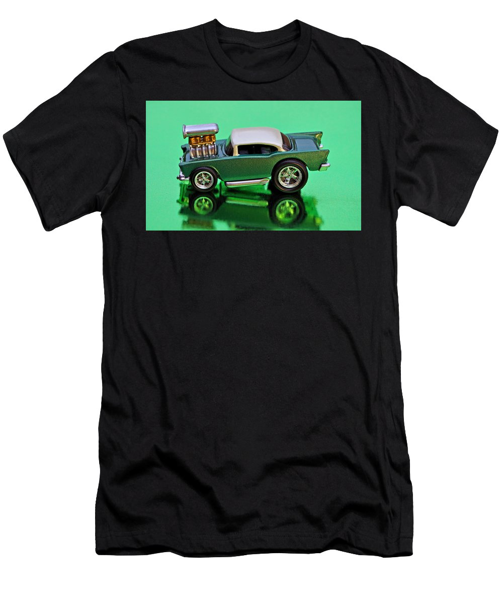 57 Men's T-Shirt (Athletic Fit) featuring the photograph hotwheels blown 57 Chevy by Bruce Roker