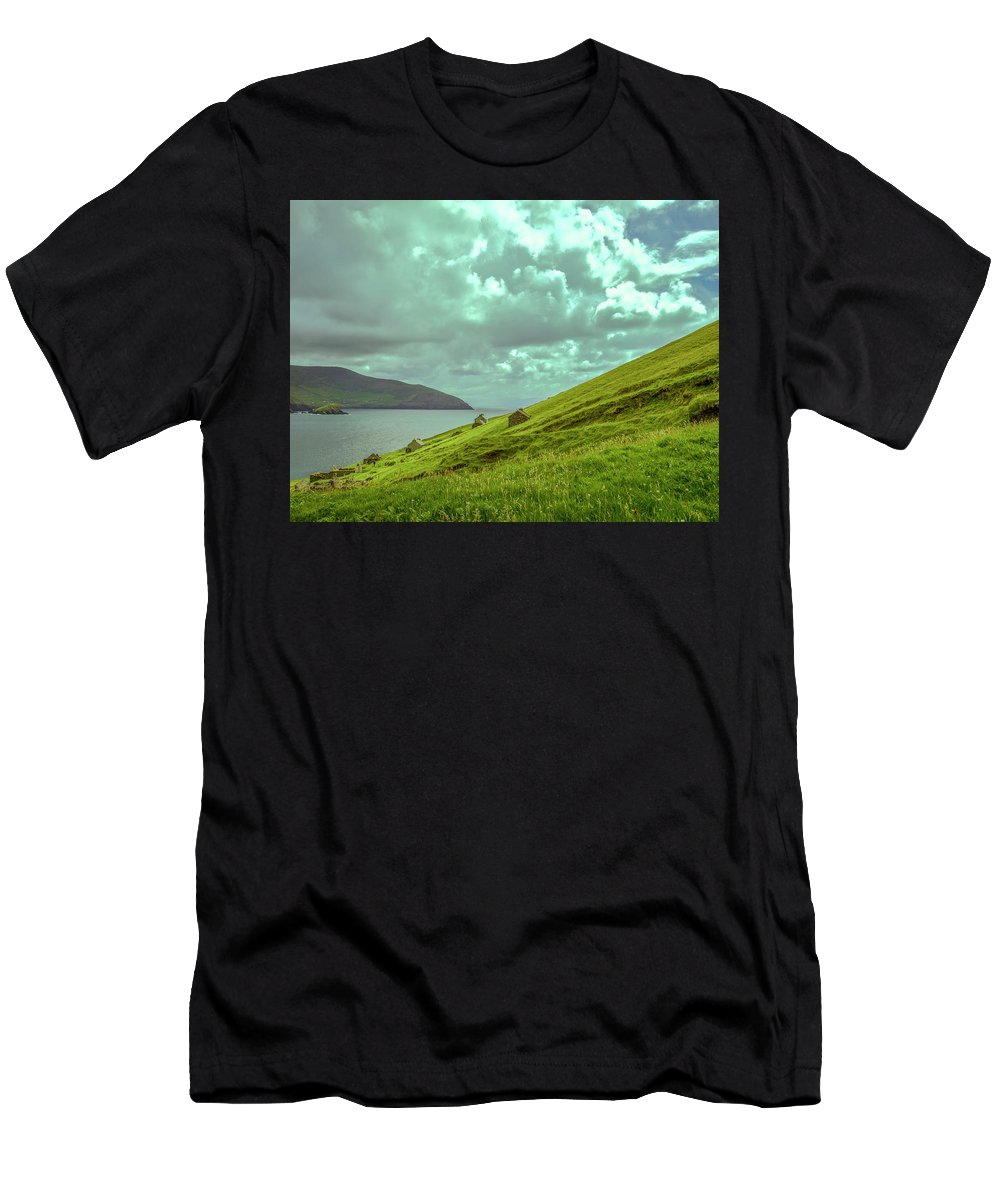Men's T-Shirt (Athletic Fit) featuring the photograph Houses And Ruins. by Leif Sohlman