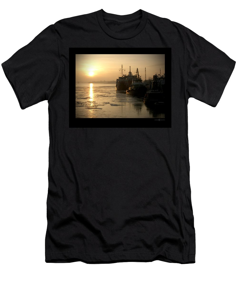 Boat Men's T-Shirt (Athletic Fit) featuring the photograph Huddled Boats by Tim Nyberg
