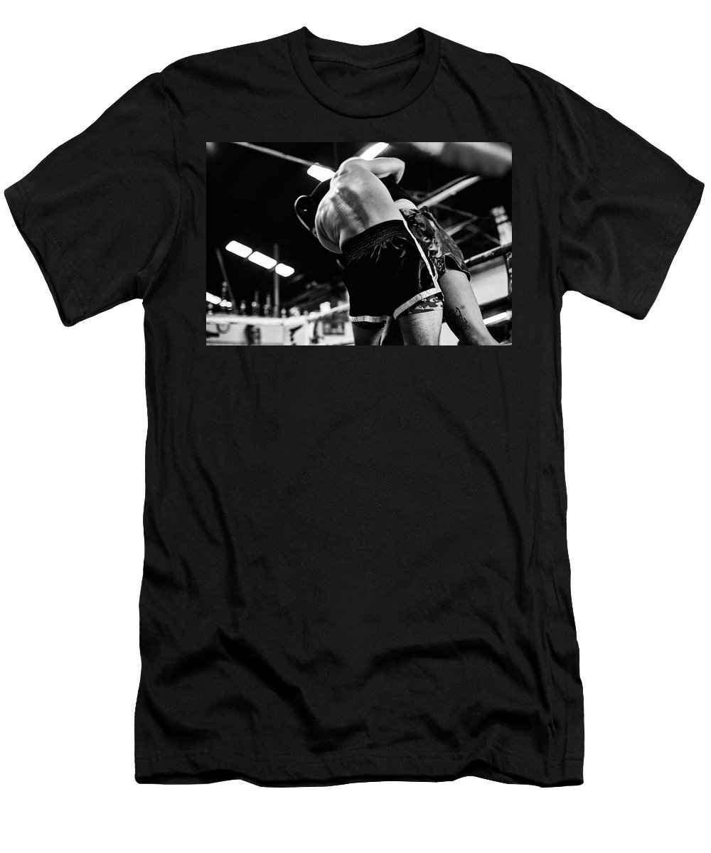 Fight Men's T-Shirt (Athletic Fit) featuring the photograph Hug by Elena Rojas Garcia