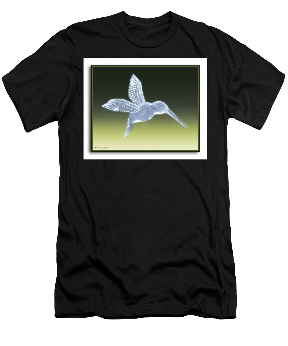 2d Men's T-Shirt (Athletic Fit) featuring the photograph Hummingbird by Brian Wallace
