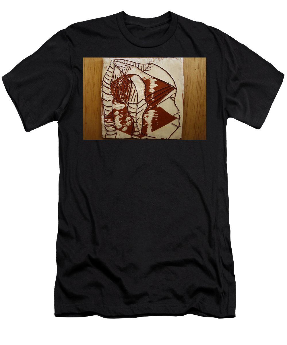 Jesus Men's T-Shirt (Athletic Fit) featuring the ceramic art Hunter - Tile by Gloria Ssali
