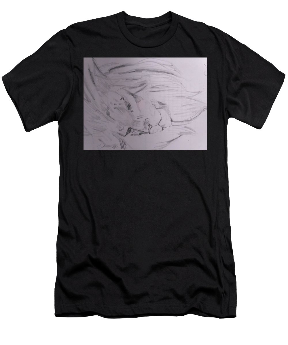 Men's T-Shirt (Athletic Fit) featuring the drawing Hunters Or Prey? by Seerat Farooq